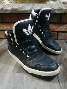 Details about Adidas Originals High Top Basketball Shoes Mens Size 10.5 #109615991 Black White