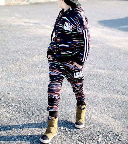 Dettagli su Completo Tuta Sport Pantaloni Felpa Bambina Bambino Pants Hoodie Jacket SETCH07
