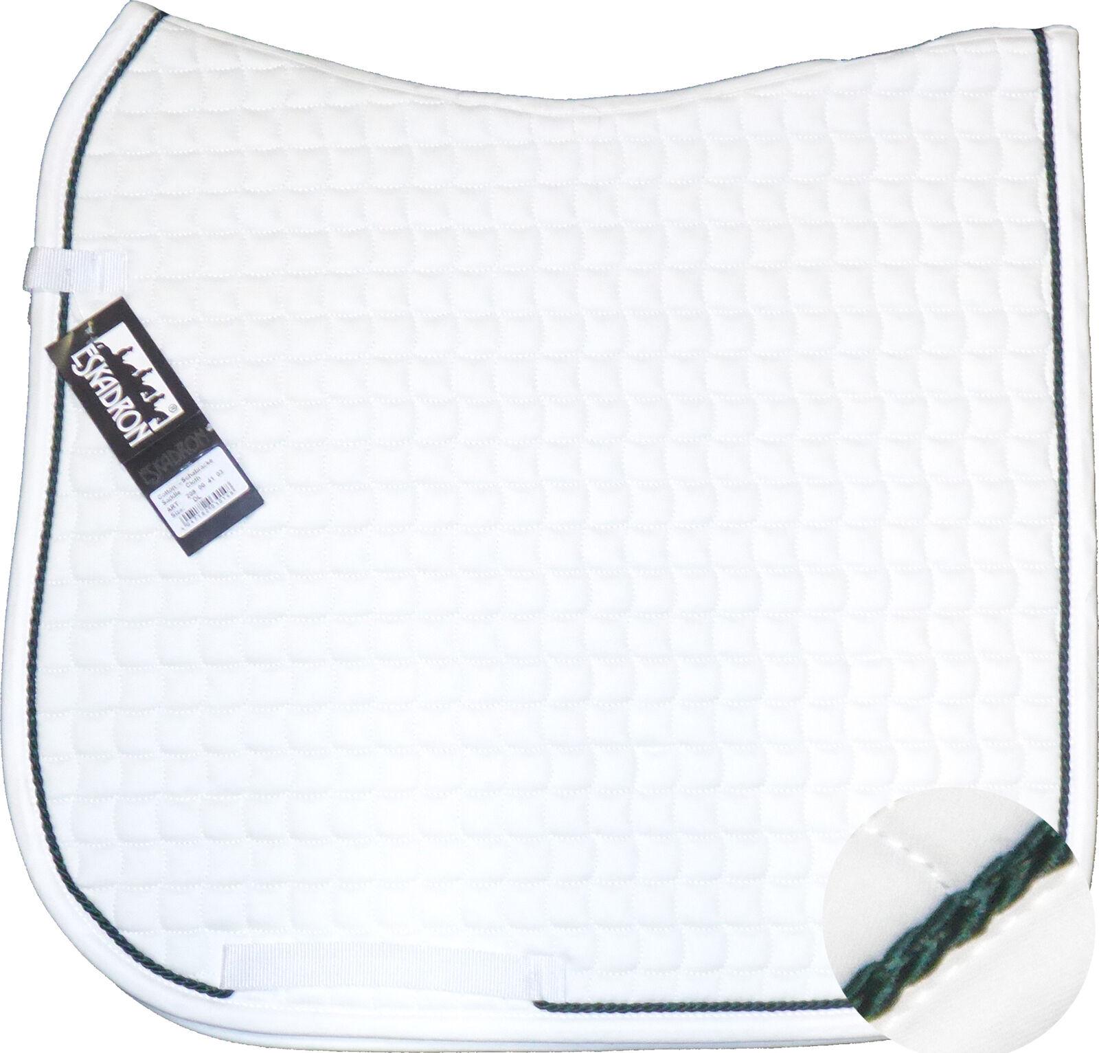 ESKADRON Cotton Schabracke Weiß einer Kordel in tanne tanne tanne 8459ce