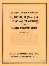 Allis Chalmers U Uc Iu U 318 Parts Catalog Manual