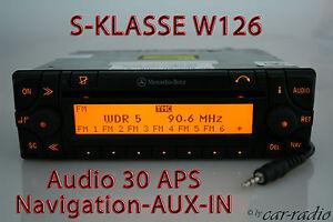Copieux Mercedes Audio 30 Aps Auxiliaire Dans W126 Système De Navigation Radio C126 Classe S Navi-tem C126 Radio S-klasse Navi Fr-fr Afficher Le Titre D'origine