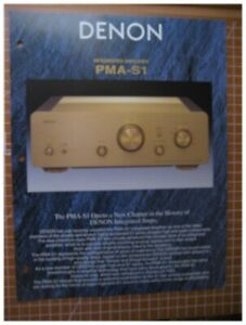 Denon-PMA-S1-Original-Integrated-Amp-Spec-Sheet