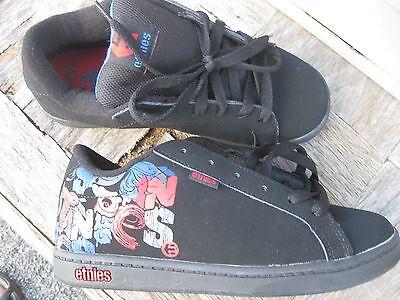 nib etnies EKG SMU-2 BOY/'S BIG KID Skate Shoe BLACK-MULTI