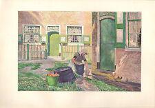 1899 VICTORIAN STUDIO PRINT ~ FERME EN ZUID-BEVELAND By EMILE CLAUS