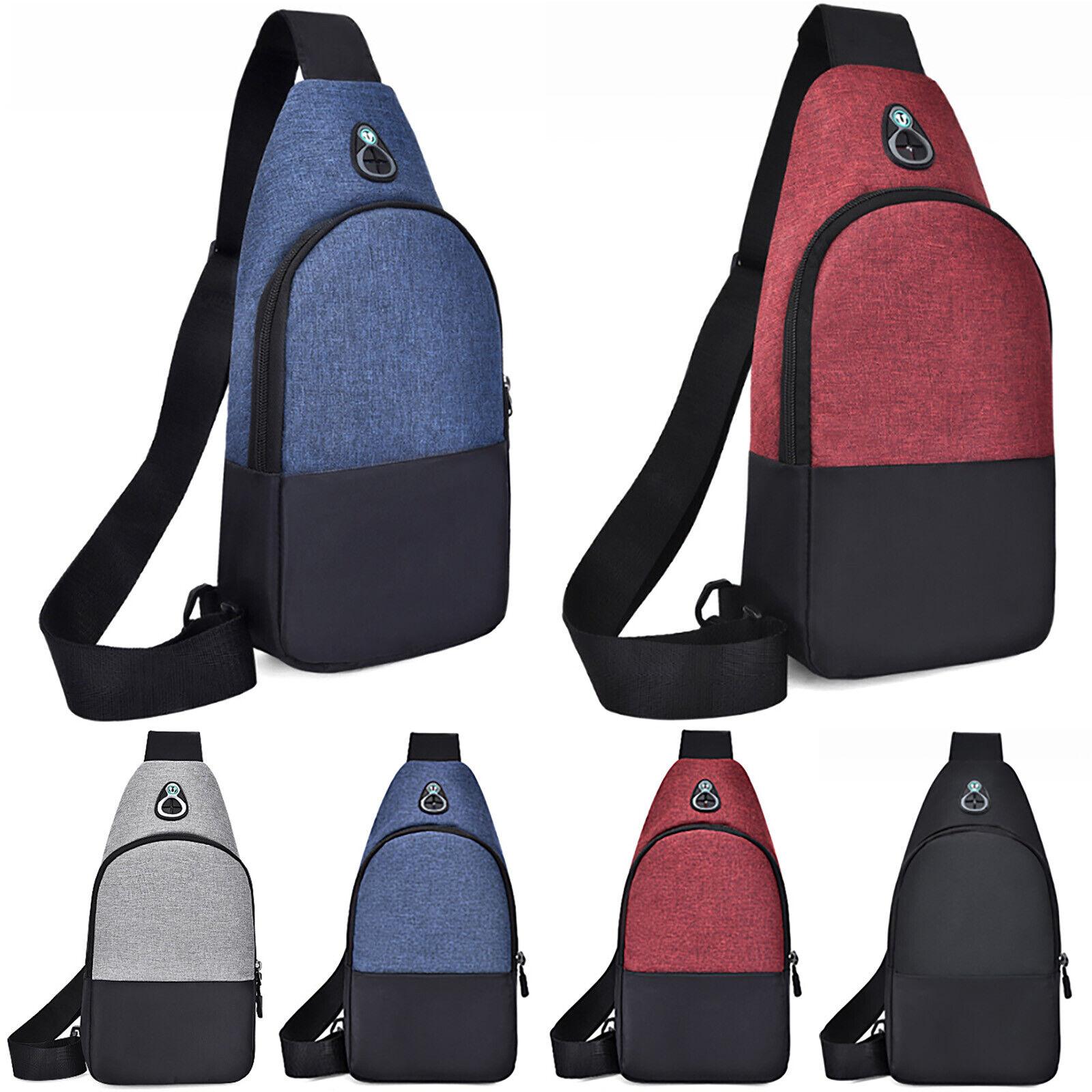 Mens Backpack Sling Chest Pack Bag Travel Crossbody Sports Shoulder Ba... - s l1600