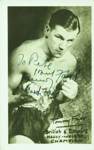 TOMMY FARR  BRITISH EMPIRE CHAMPION  METAL POSTER BOXING LARGE METAL TIN SIGN