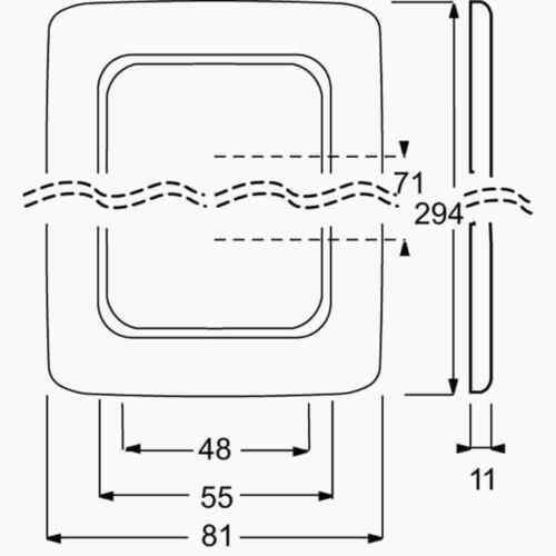 Busch-Jaeger Rahmen 4-fach 2514-212 Abdeckrahmen 4-Fach-Rahmen Abdeckung weiss