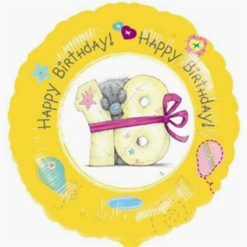 """Age 18 18th Anniversaire 18/"""" Foil Balloon Tatty Ted ME TO YOU-Lemon"""