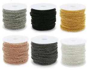About-100meter-2mm-Width-O-Link-Chain-Necklace-Gold-Black-Color-Metal-Iron-Bulk