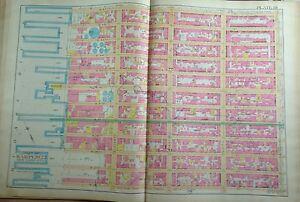 1891 E. ROBINSON HELL'S KITCHEN MANHATTAN COPY ATLAS MAP 8TH AV-HUDSON RIVER