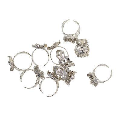 10x Adjustable Ring Base Cabochon Oval Bezel Settings Blanks Jewelry Making