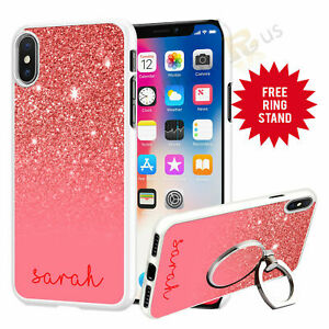 Personalised-Phone-Case-Cover-amp-Finger-Ring-Stand-Holder-For-Top-Mobiles-073-7