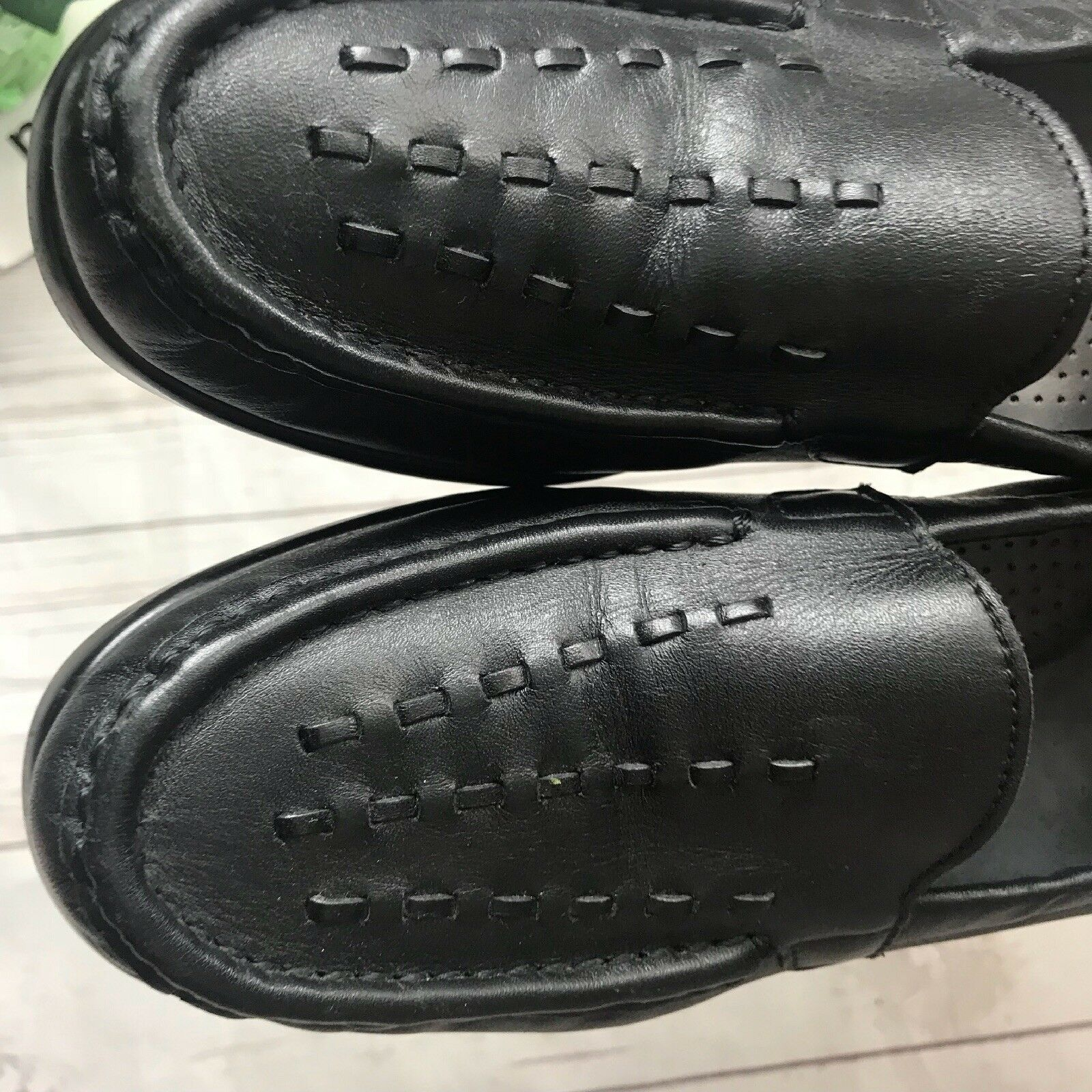 SAS Tripad Women Comfort Size Loafer 8 S Shoes Penny Loafer Size Slip On Leather Black Woven b651ed