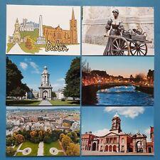 Set of 6 New Glossy Postcards DUBLIN Ireland Eire Castle River Liffey Malone 20P