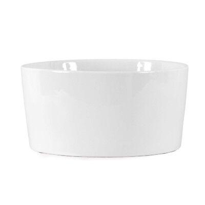 Diplomatisch Servierschale Keramik Weiß Ø 20 Cm / Ofenform Schale Auflaufform Salatschale