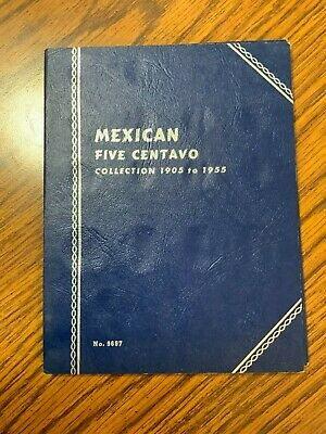 WHITMAN MEXICAN FIVE CENTAVO 1954-1960  #9698 PLUS 51 BLANK PORTS