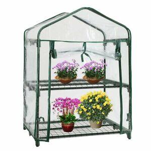 Garden Grow House Portable 3 Tier Mini Greenhouse Waterproof Plant Outdoor Metal
