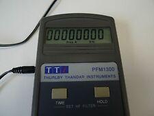 Frequency Meter Thurby Thandar PFM1300 w/t Power Supply TTI Lab Counter BNC