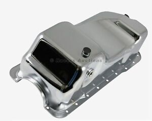 83-93-Mustang-Oil-Pan-Dual-Sump-Chrome-Stock-Style-5-0-302-Small-Block-Ford