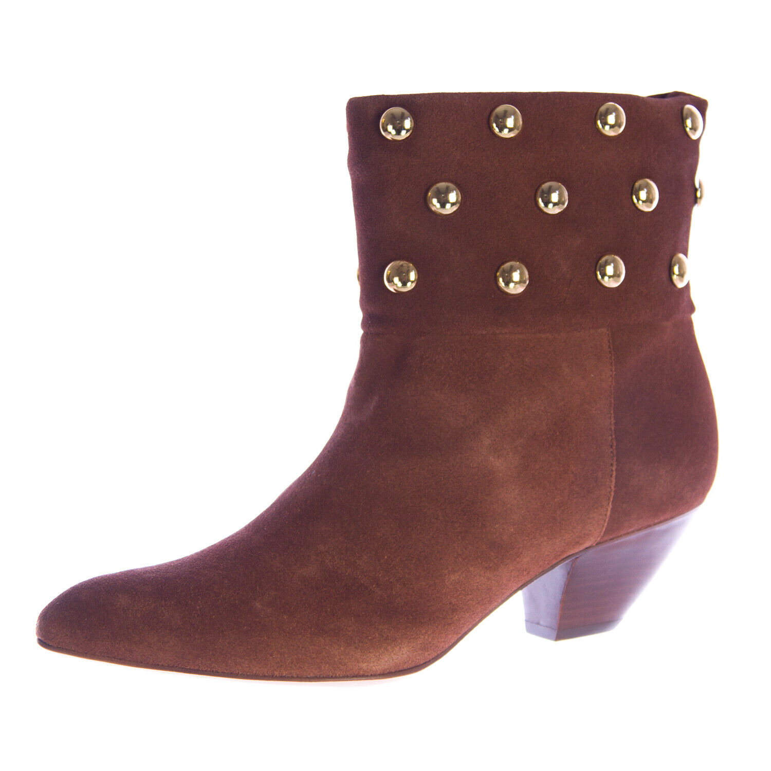 REBECCA MINKOFF Women's colorado Chestnut Suede Heeled Ankle Boots Sz 7 NEW