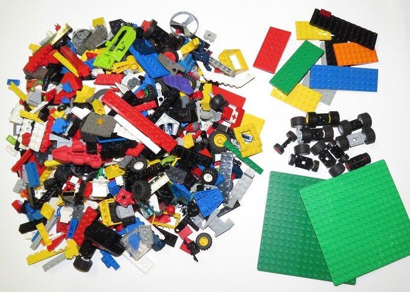 Lego Set de Démarrage 1 kg Lego Assortiment, 10 Roues , 25 Plaquettes et 2