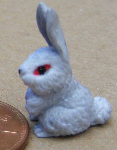 Escala 1:12 un polímero arcilla Conejo tumdee Gris Casa de Muñecas en Miniatura Accesorios Ga