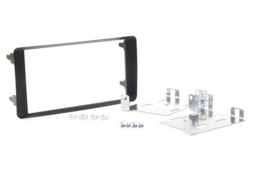 für MITSUBISHI ASX GAO  Auto Radio Blende Einbau Rahmen 2-DIN schwarz matt