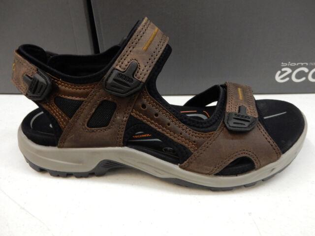 aa9f5915de4 ECCO Yucatan Mens Velcro Fastening Sandals Espresso Nubuck 11   46 ...