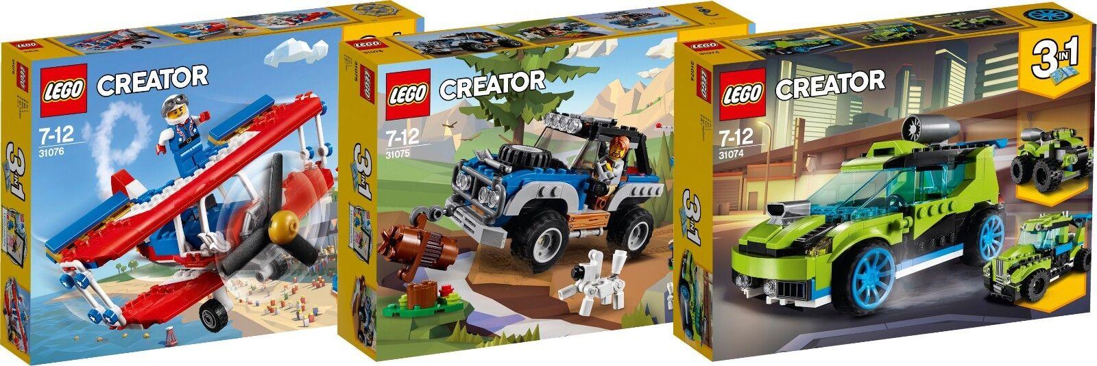 LEGO Creator Tollkühner Flieger 31076 31075 31074 Rallyeflitzer 3 in 1 N1/18