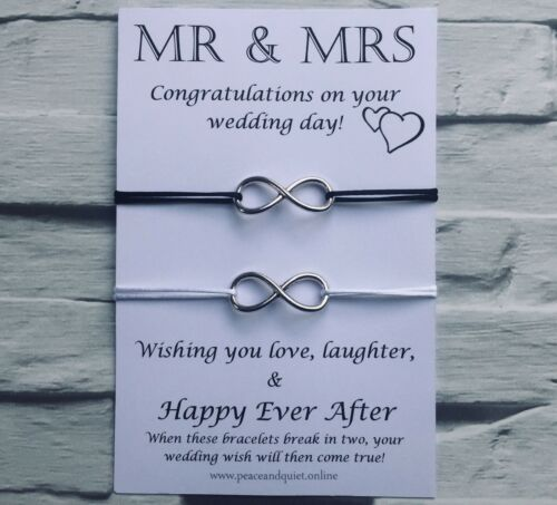 Wish Bracelet #WB Mr And Mrs Gift Marriage Infinity Love Wedding Day Gift