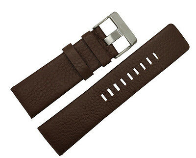 High Quality Brown Genuine Leather Watch Band Fits Diesel Watch 22mm~30mm