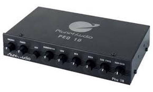 Planet Audio PEQ10 4-Band Graphic Equalizer w Subwoofer Output