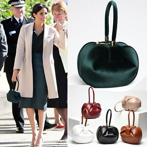 Meghan-Markle-Royal-Wedding-Clasp-Tote-Clutch-Handbag-Genuine-Leather-Choose-One