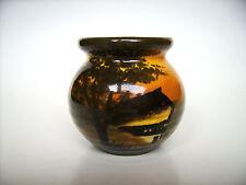 Keramik Vase Schramberg SMF Schwarzwaldhaus Black forest pottery Germany vintage