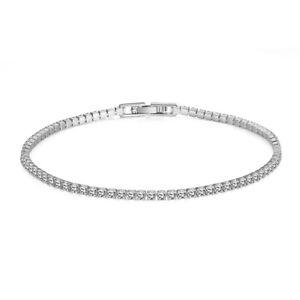 CZ-by-Kenneth-Jay-Lane-Womens-Silver-Round-Tennis-Bracelet-Jewelry-O-S-BHFO-136