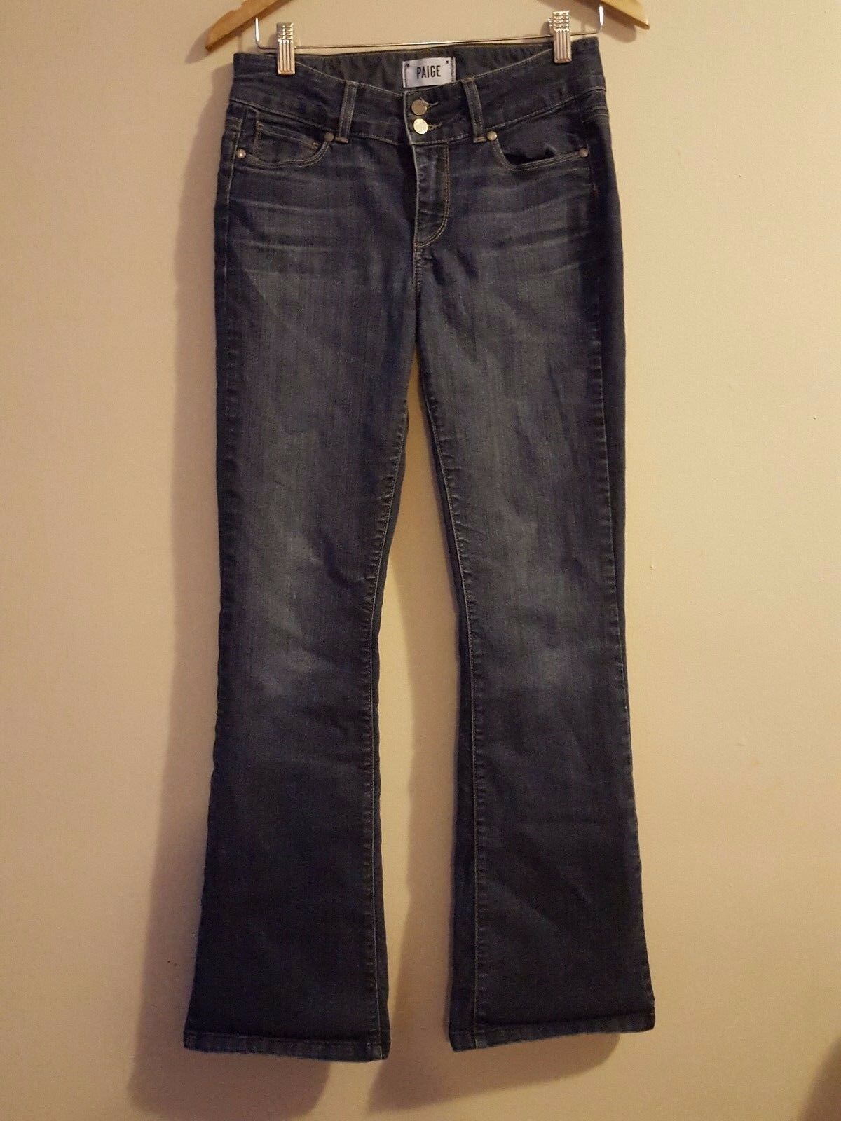 Paige Hidden Hills Boot Cut Jeans in Stream Size 28 X 30