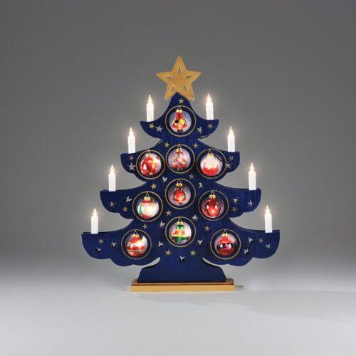 Konstsmide sapin de Noël chandeliers bleu avec glasschmuck 37x44cm 8-flg