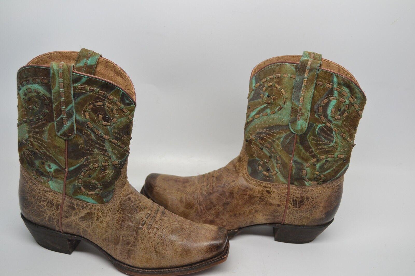 Tony Lama Mujeres vf 6027 vaquero occidental Shorty Dedo Dedo Dedo Del Pie Cuadrado Cuero bota 8 B  venta al por mayor barato