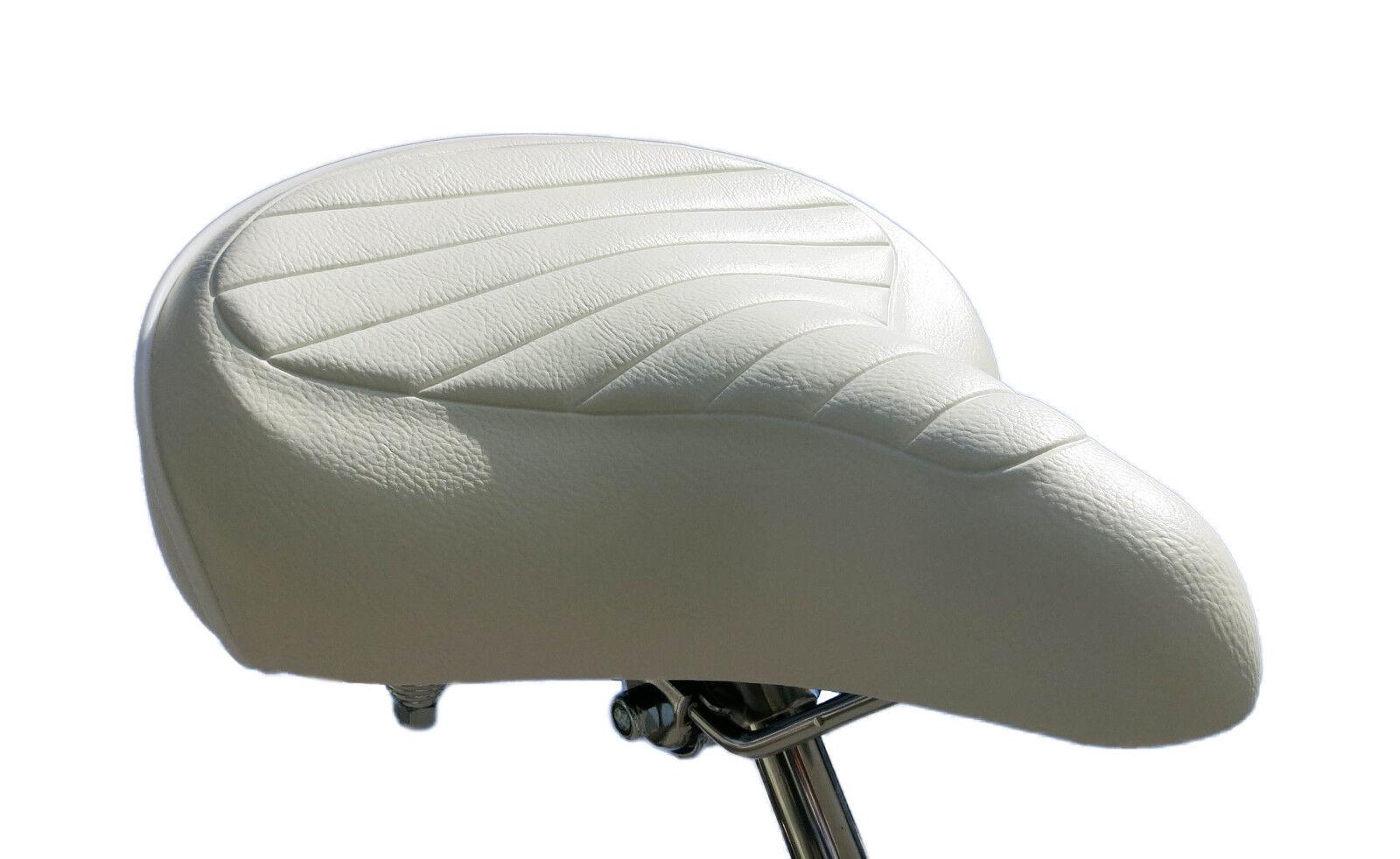 Selle  vélo Cruiser 70's white chopper beachcruiser américain saddle bicycle  cheap designer brands