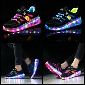 quality design 82bc1 9967f Image is loading New-Flash-Skate-Shoes-Kids-Girls-Boys-Skate-