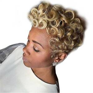 Details about Blonde Short Front Curly Synthetic