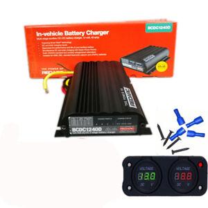 REDARC-BCDC1240D-DUAL-BATTERY-ISOLATOR-SYSTEM-DC-TO-DC-MPPT-SOLAR-AGM-amp-LITHIUM