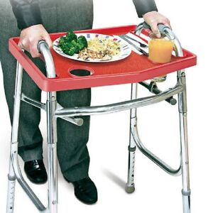 Universal-Red-Walker-Tray-NON-SLIP-grip-mat-Carry-Standard-Cup-Holders