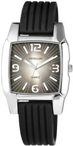 Excellanc-Herrenuhr-Anthrazit-Schwarz-Analog-Silikon-Armbanduhr-D-225722000008