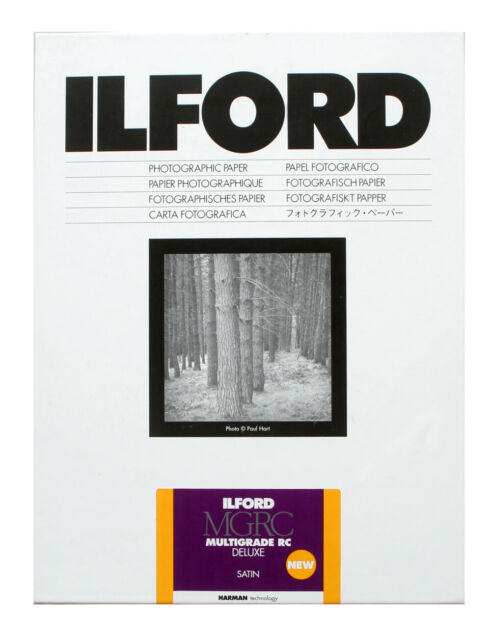 Carta Fotografica B//N Ilford Ilfospeed RC De Luxe 2 10x15//100f  24M Satinata