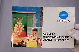 Minolta A Guide to The Minolta X series SLR camera System (EN) 7210051 1984