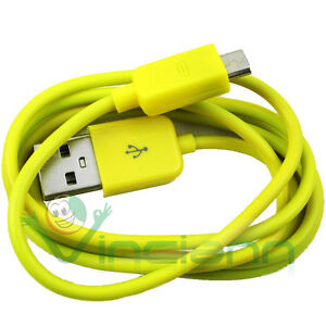 Cavo-dati-per-Samsung-Galaxy-Core-i8260-GIALLO-USB-carica-sincronizza