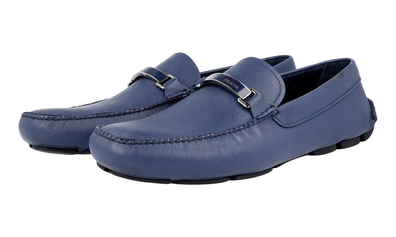 Luxury PRADA Saffiano Slipper shoes 2DD099 blueette NEW 7 41 41,5