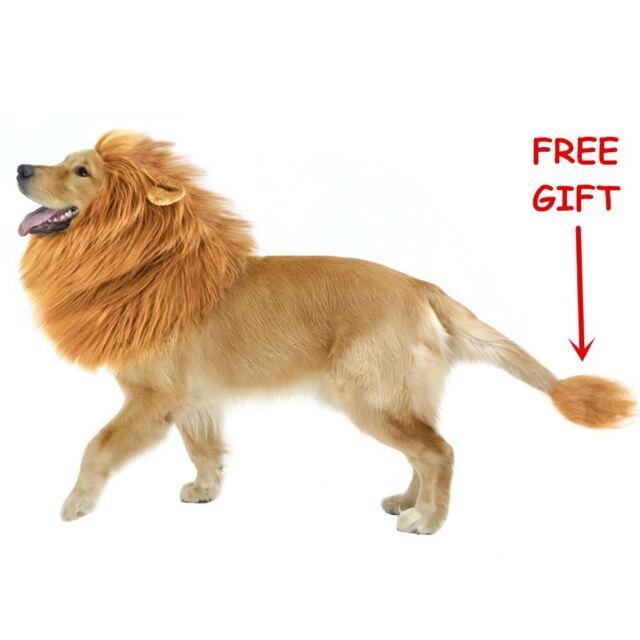 CPPSLEE Halloween Lion Mane Wig Costume - Make Your Dog Lion King - Adjustable  sc 1 st  eBay & Adjustable Pet Dog Lion Mane Wig Hair Halloween Costume Fancy Dress ...