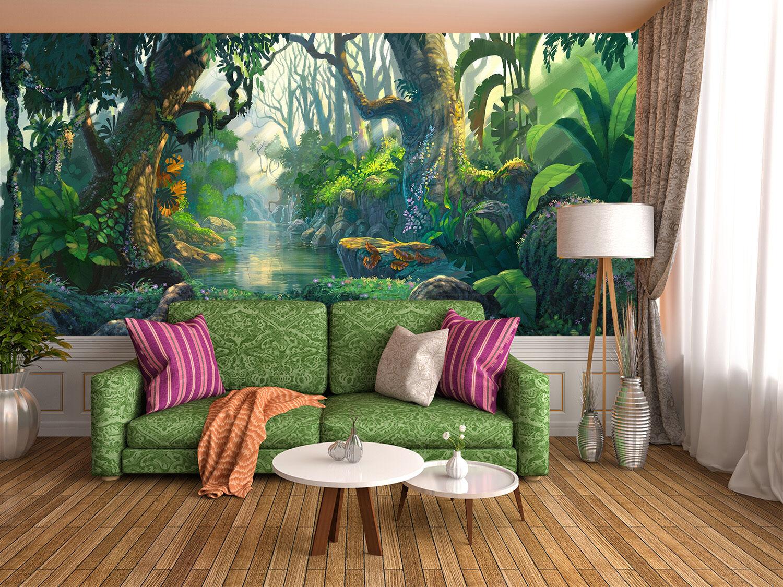 3D Foresta Fata 5 Parete Murale Foto Carta da parati immagine sfondo muro stampa